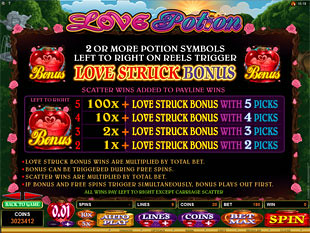 Love Potion Bonus