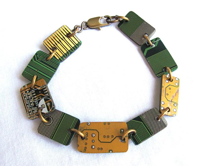 Groovy Garbage upcycled circuit board bracelet
