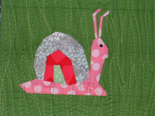 paper pieced snail