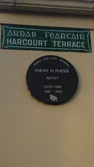 Photo of Sarah Purser brown plaque