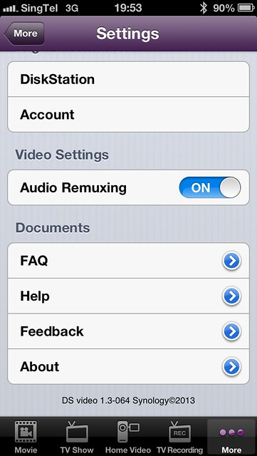 DS Video - Settings