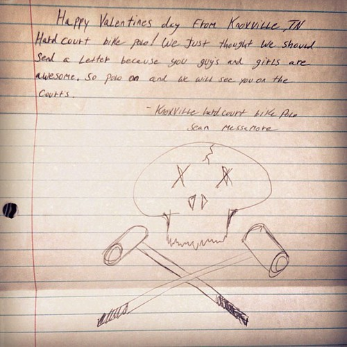 awesome letter from Hey Knoxville Hardcourt Bike Polo