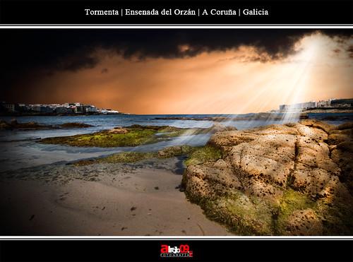 Tormenta | Ensenada del Orzán | A Coruña by alrojo09
