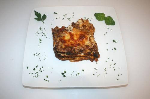 77 - Lasagne al cavallo (Pferde-Lasagne / Horse lasagna) - Serviert