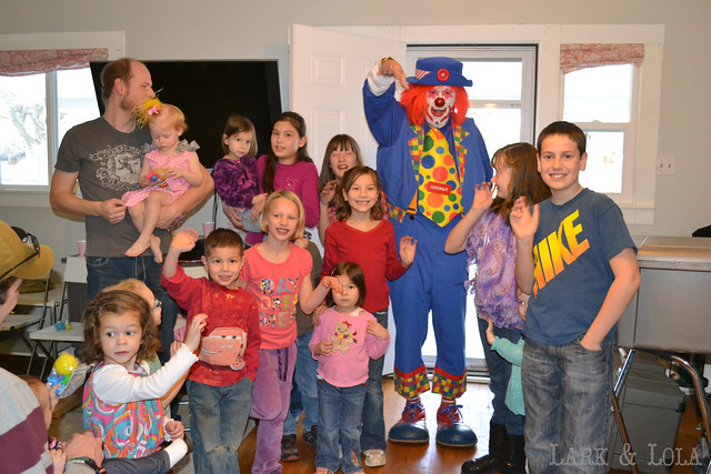 Clown & kids