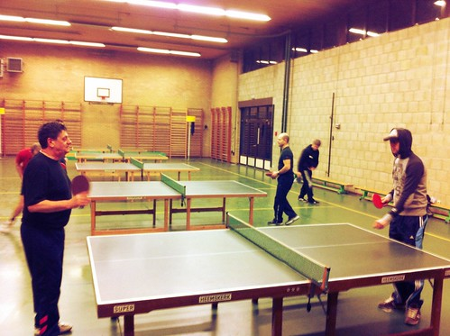DOLK in actie op het pingpong toernooi