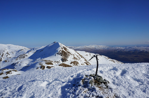 Meall Garbh from the summit of Beinn nan Eachan