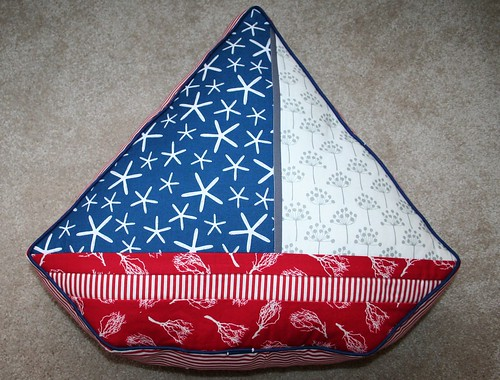 Sailboat Pillow Front
