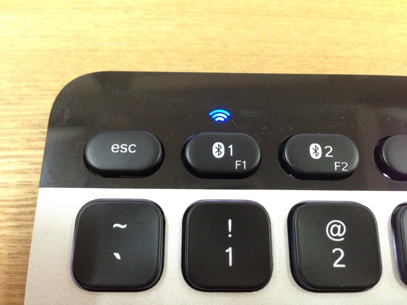 Logitech Bluetooth Easy-Switch Keyboard - Connected To MacBook Air