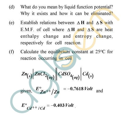 UPTU B.Tech Question Papers - TCY-401/CY-401 - Chemistry-II