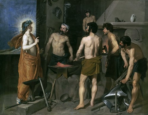 Velázquez - The Forge of Vulcan [1630] by Gandalf's Gallery
