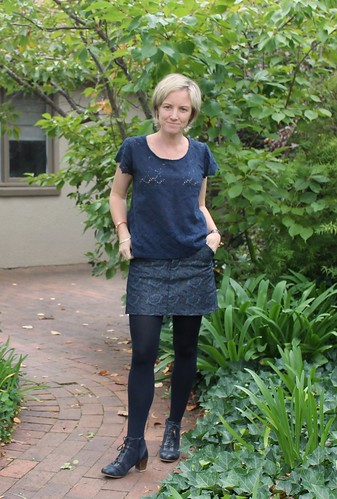 Grainline Moss Mini in Marion Denim
