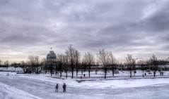 Ice skating on the old port of Montreal