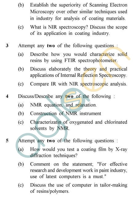 UPTU B.Tech Question Papers -PT-012 - Instrumentation In Coating Industry