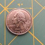 A quarter as an Appliqué tool