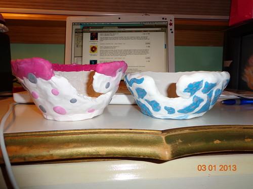 2 yarn bowls