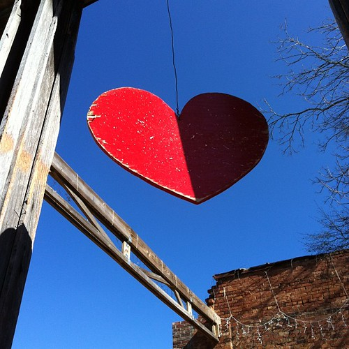 Heart. Blue sky.