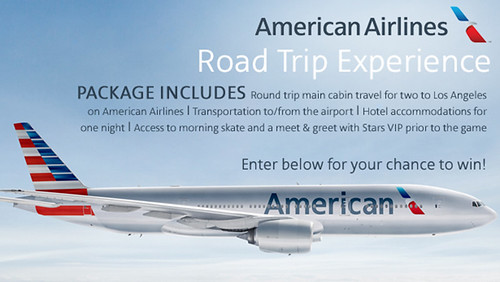 American Airlines sweepstakes screenshot