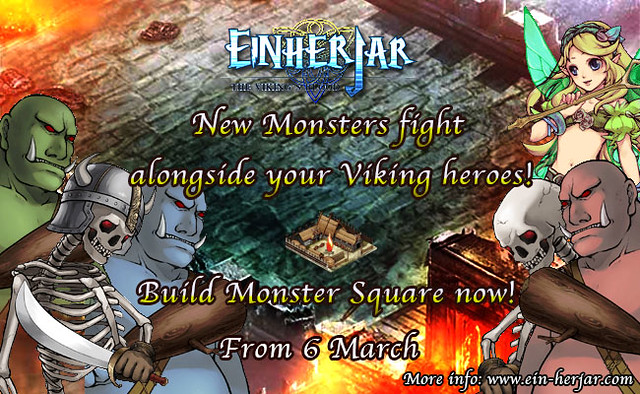 Monster Square updated in Einherjar - The Viking's Blood