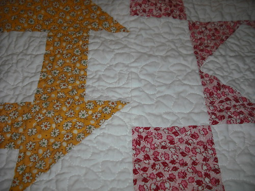 1930's lap quilt - close up of quilting
