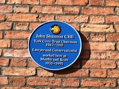Photo of John Shannon blue plaque
