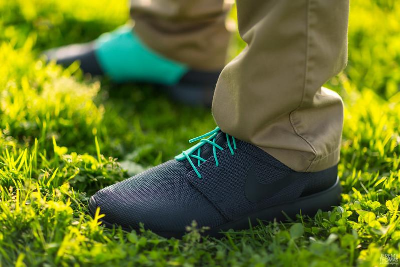 Mint Roshe Runs on Feet Nike Mint Tonal Roshe Run
