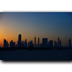Sunset in Sheikh Zayed road 16-3-2013