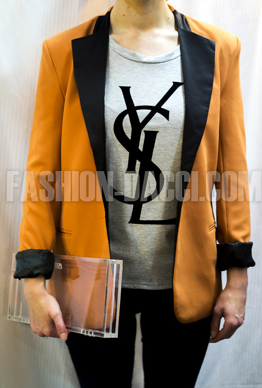SHOP 01 ORANGE BLACK BLAZER