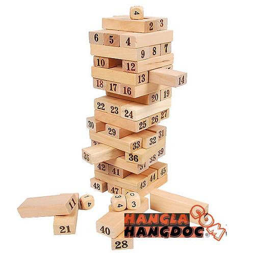 Rút gỗ số, tò chơi rút gỗ số, rút gỗ màu