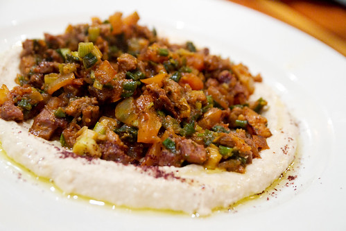 Hummus and lamb segar