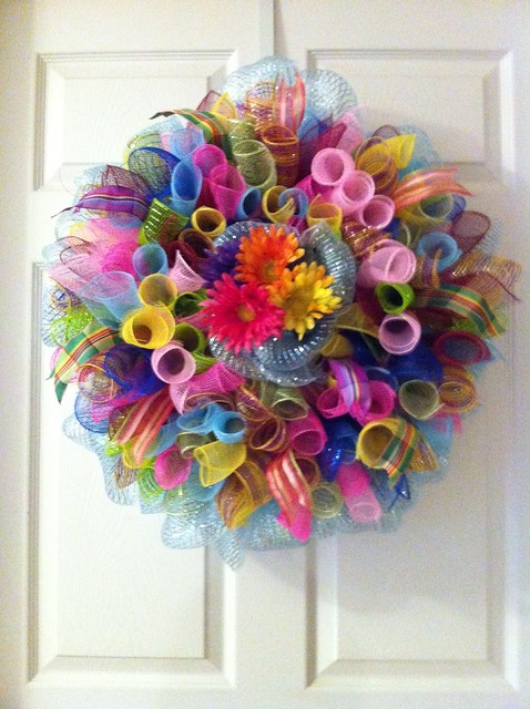 Spring wreaths door decoration flickr photo sharing for 3 wreath door decoration