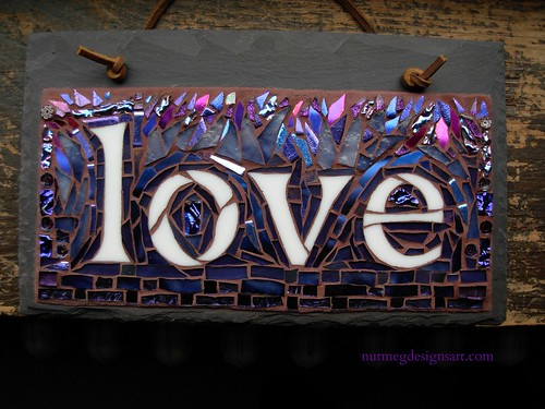 Love Mosaic for an Anniversary by Nutmeg Designs