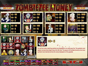 free Zombiezee Money slot mini symbols