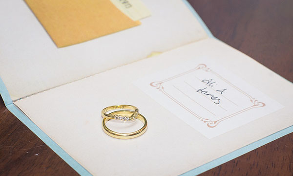 wedding ring book invitation