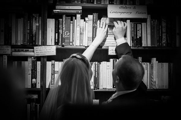 book shop wedding