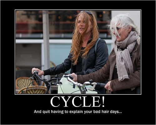 Cycle! And quit having to explain your bad hair days... - Copenhagen Bikehaven by Mellbin