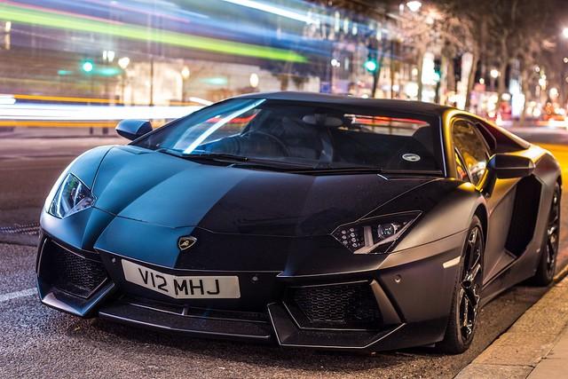 Matte Black Lamborghini Aventador | Explore TS Multimedia ...