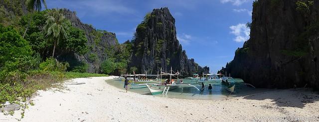 Hidden Beach at El Nido, Palawan