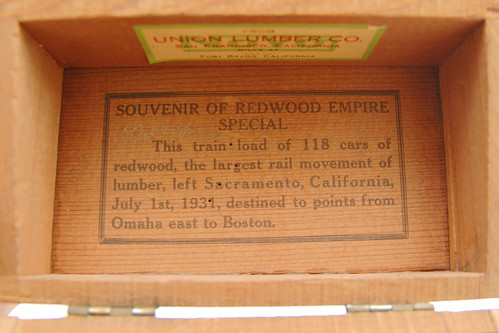 when was this commemorative redwood empire special box made? I.