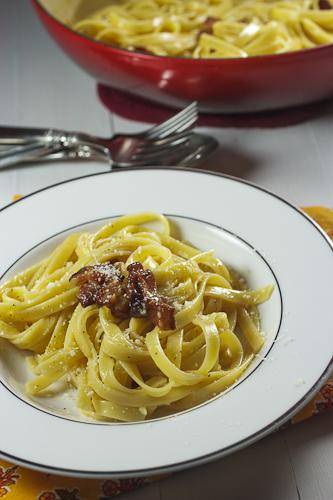 Pasta Carbonara #SundaySupper