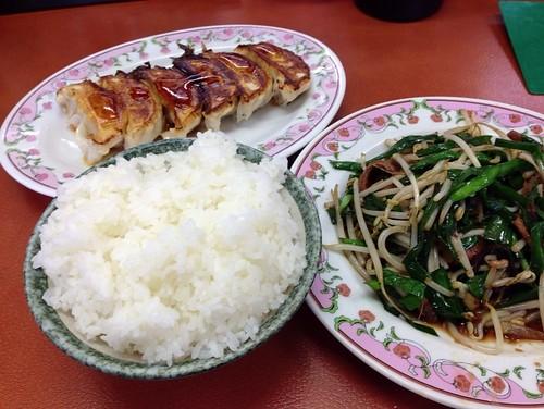 餃子の王将 餃子&ニラレバ炒め