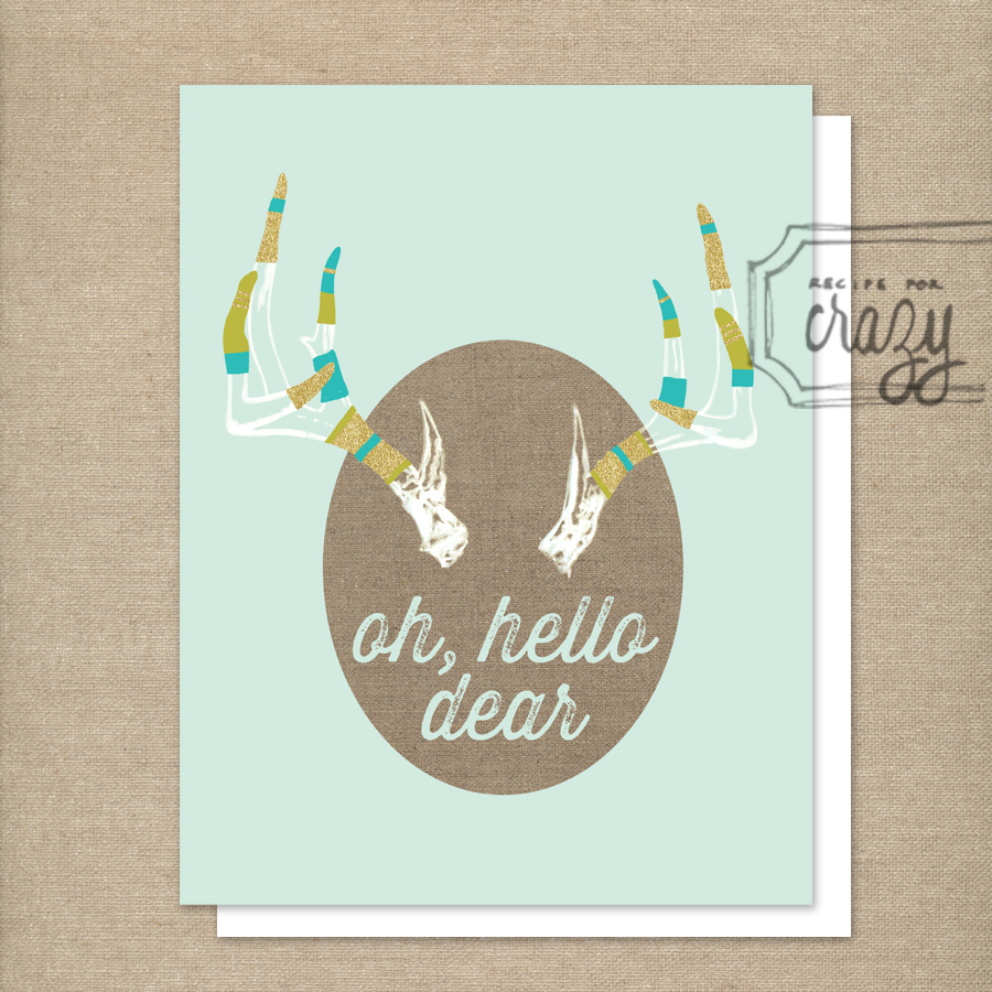 oh, hello dear - folded card by recipeforcrazy