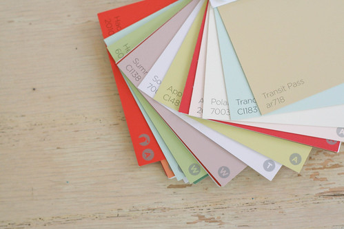 Paint chip tags.