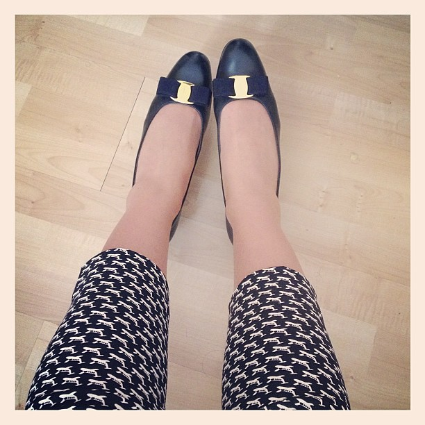 Ferragamos and #orlakiely Come Fly With Me trousers are having their first outing today!
