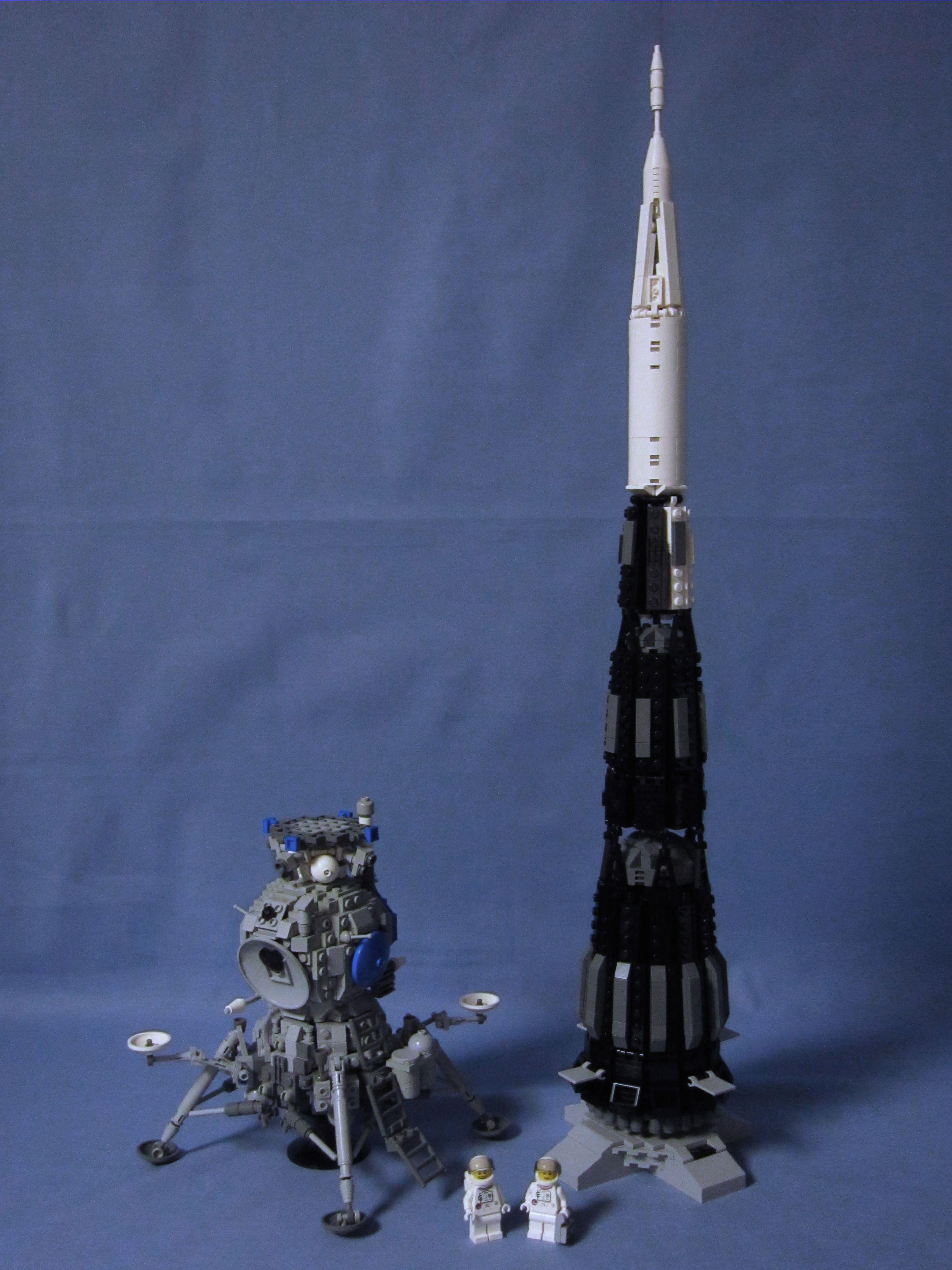 Lego Soviet Lk Moonlander 02 10 Lk N1 Flickr Photo