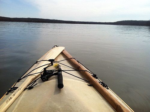 kayaking stockton lake - aldrich waterfowl refuge