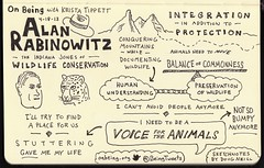 Sketchnotes of Interview with Alan Rabinowitz