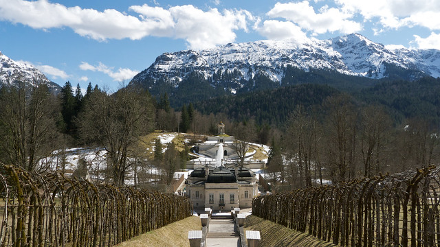 Linderhof palace from the North