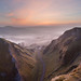 Winnats Pass Dawn Panorama by Paul Newcombe