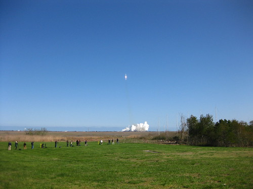 Wide view of Antares Launch